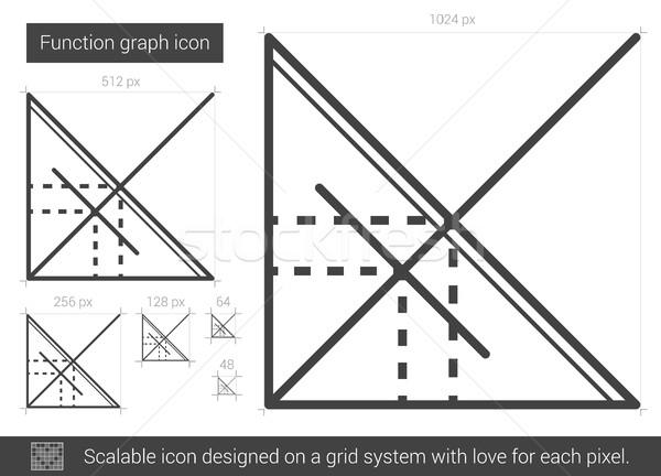 機能 グラフ 行 アイコン ベクトル 孤立した ストックフォト © RAStudio