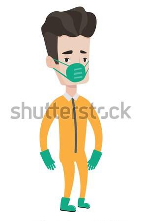 男 放射線 スーツ 科学 防毒マスク 着用 ストックフォト © RAStudio