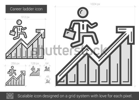 Stock photo: Career ladder line icon.