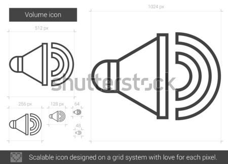 Volume line icon. Stock photo © RAStudio
