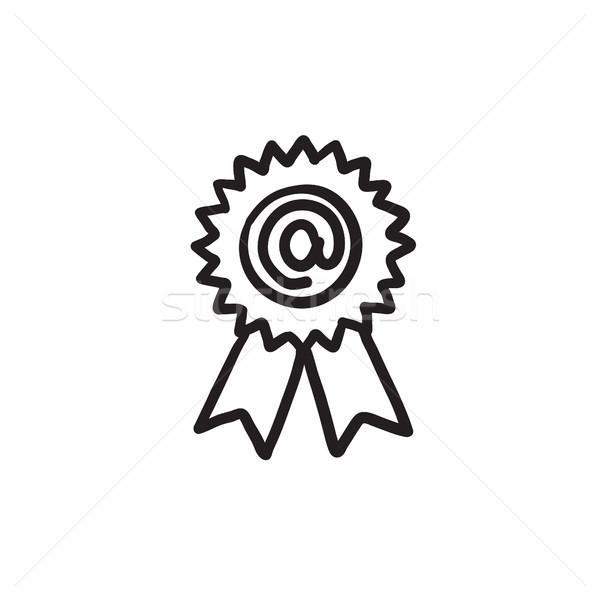 Award with at sign sketch icon. Stock photo © RAStudio