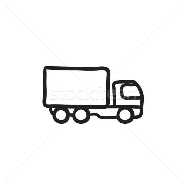 грузовик эскиз икона вектора изолированный рисованной Сток-фото © RAStudio