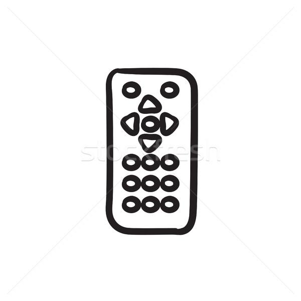 пультом эскиз икона вектора изолированный рисованной Сток-фото © RAStudio