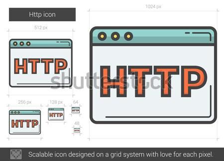 Http линия икона вектора изолированный белый Сток-фото © RAStudio