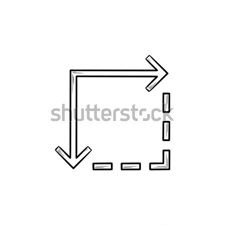 Move down line icon. Stock photo © RAStudio