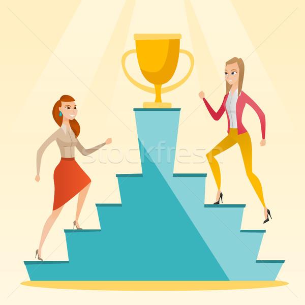 Businesswomen competing for the business award. Stock photo © RAStudio