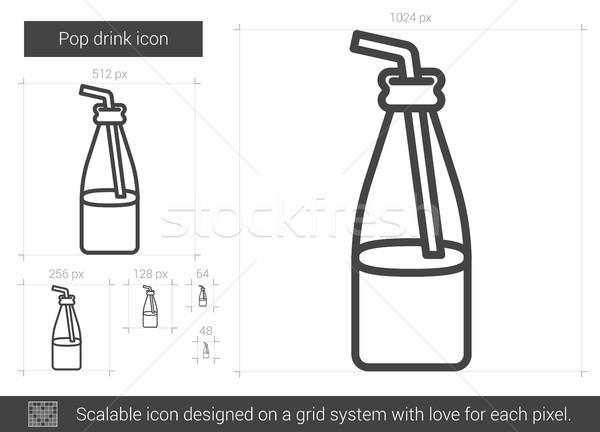 Pop beber linha ícone vetor isolado Foto stock © RAStudio