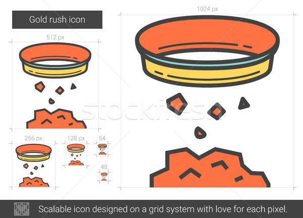 Gold rush line icon. Stock photo © RAStudio