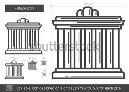 Palace line icon. Stock photo © RAStudio
