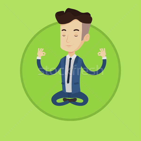 ビジネスマン 瞑想 蓮 位置 小さな ストックフォト © RAStudio