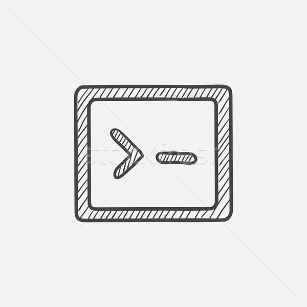 Terminal startup sketch icon. Stock photo © RAStudio