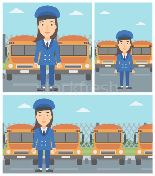 School bus driver vector illustration. Stock photo © RAStudio