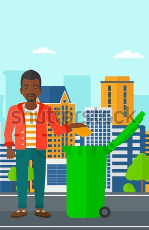 Ingatlanügynök hüvelykujj felfelé férfi áll mögött Stock fotó © RAStudio
