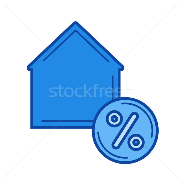 House with percent sign line icon. Stock photo © RAStudio