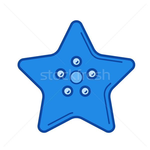 Starfish ligne icône isolé blanche Photo stock © RAStudio