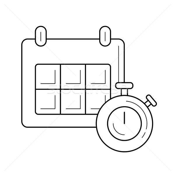 Timetable line icon. Stock photo © RAStudio