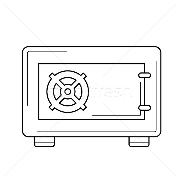 Security safe line icon. Stock photo © RAStudio