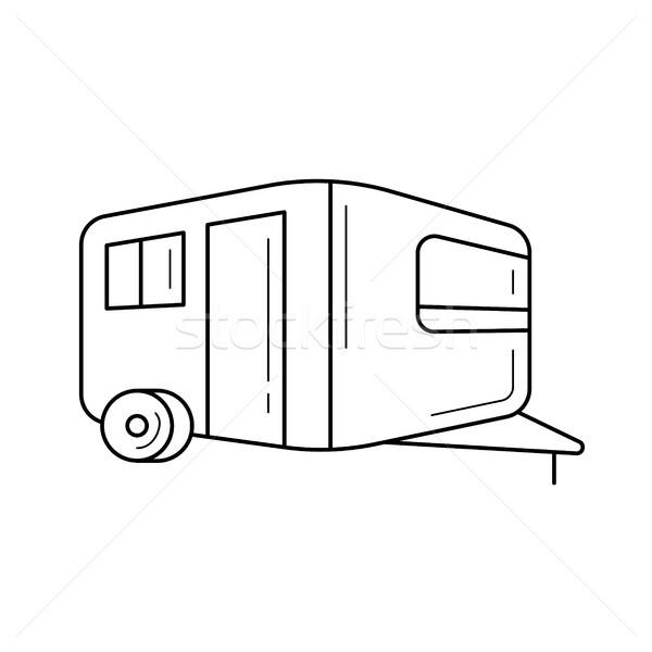 Camper line icon. Stock photo © RAStudio
