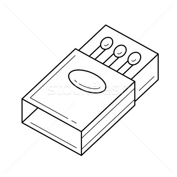 Partido línea icono vector aislado blanco Foto stock © RAStudio