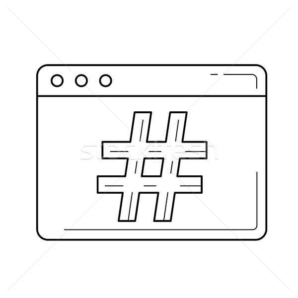 Vonal ikon izolált fehér vektor infografika Stock fotó © RAStudio