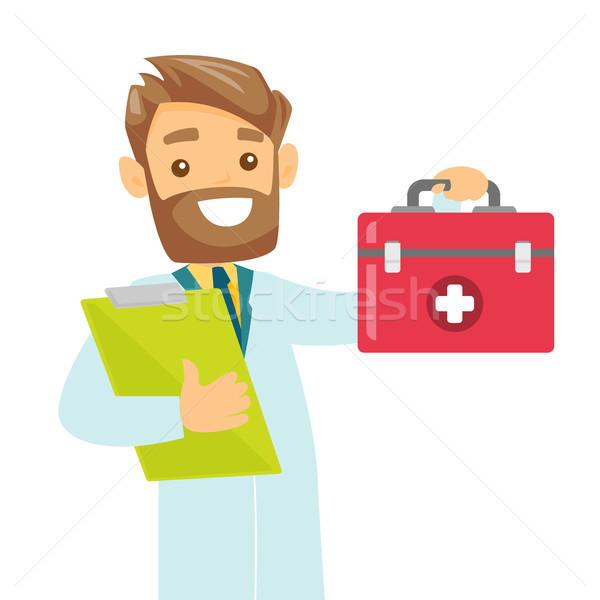 Kaukasisch witte arts eerste hulp vak Stockfoto © RAStudio