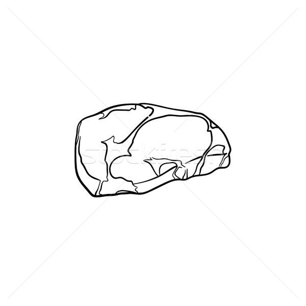 Foto stock: Dibujado · a · mano · boceto · icono · garabato