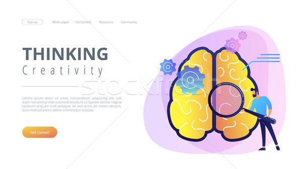 Thinking and creativity concept landing page. Stock photo © RAStudio