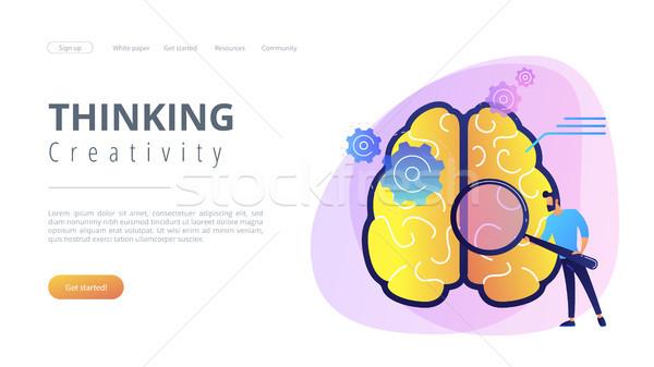 Thinking and creativity concept landing page. Stock photo © RAStudio