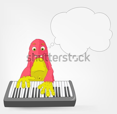 Funny Monster. Pianist. Stock photo © RAStudio