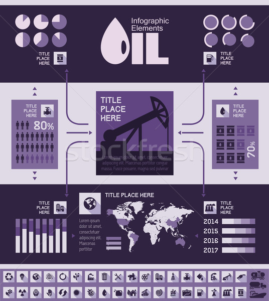 Olie-industrie sjabloon communie Stockfoto © RAStudio