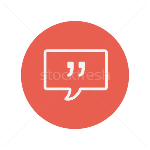 Speech bubble thin line icon Stock photo © RAStudio
