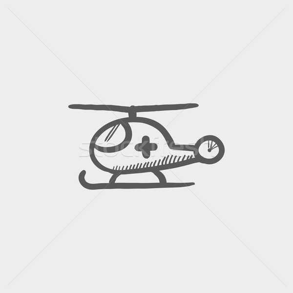 Air ambulance sketch icon Stock photo © RAStudio