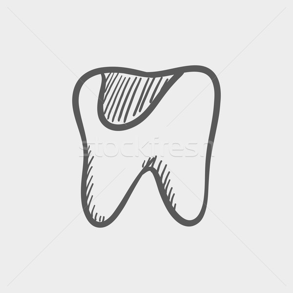 Tooth decay sketch icon Stock photo © RAStudio