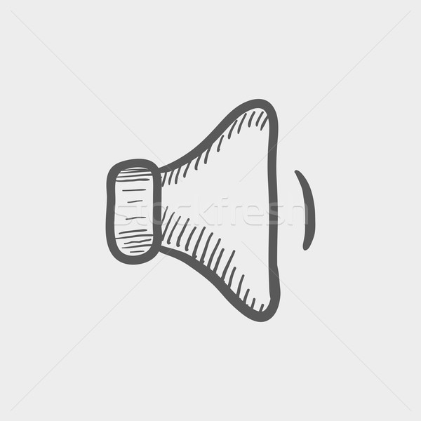 Alacsony hangszóró hangerő rajz ikon háló Stock fotó © RAStudio
