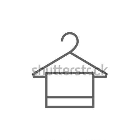 ストックフォト: タオル · ハンガー · アイコン · チョーク · 手描き