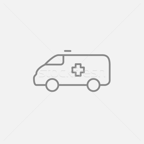 Pogotowia samochodu line ikona internetowych komórkowych Zdjęcia stock © RAStudio