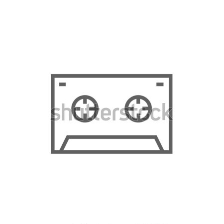 Cassette tape line icon. Stock photo © RAStudio