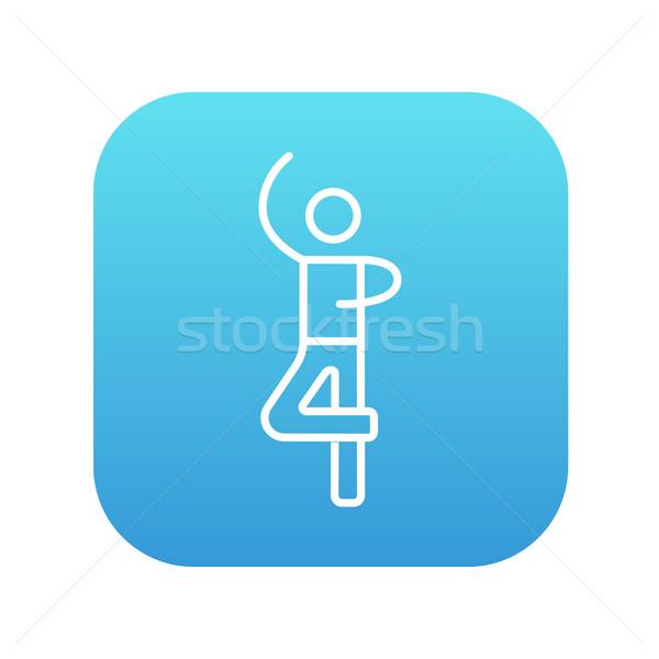 Erkek anlamaya patenci hat ikon web Stok fotoğraf © RAStudio