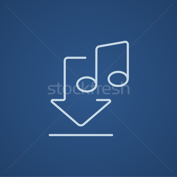 Download music line icon. Stock photo © RAStudio