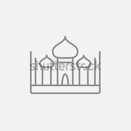 Foto stock: Mesquita · linha · ícone · teia · móvel · infográficos