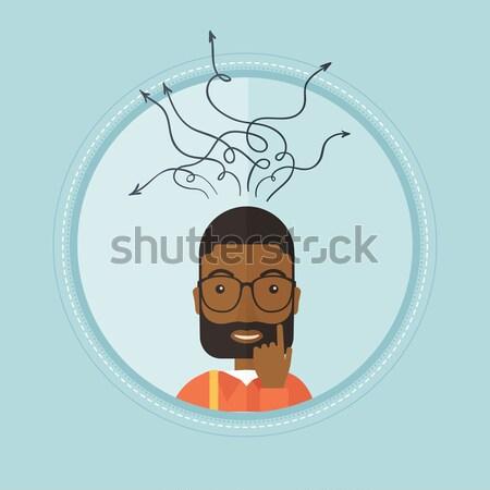 Kadın gözlük vektör dizayn örnek yalıtılmış Stok fotoğraf © RAStudio
