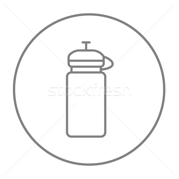 спорт фляга линия икона веб мобильных Сток-фото © RAStudio