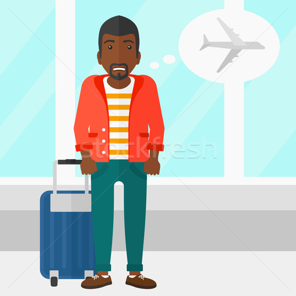 Man frightened by future flight. Stock photo © RAStudio