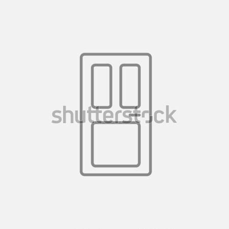 フロントドア 行 アイコン ウェブ 携帯 インフォグラフィック ストックフォト © RAStudio