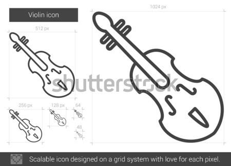 Cello line icon. Stock photo © RAStudio