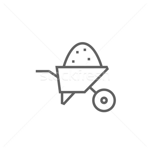 El arabası tok kum hat ikon köşeler Stok fotoğraf © RAStudio