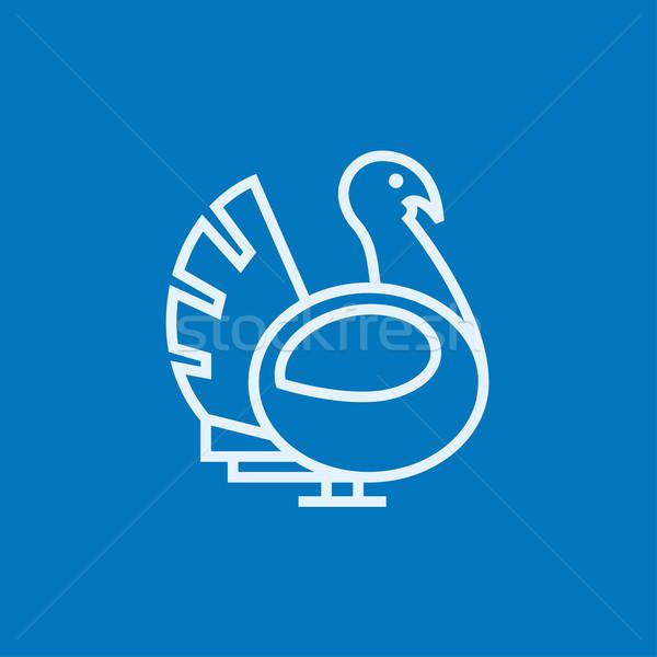 Turkey line icon. Stock photo © RAStudio
