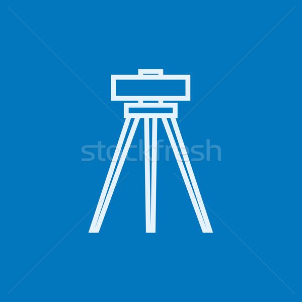 Theodolite on tripod line icon. Stock photo © RAStudio