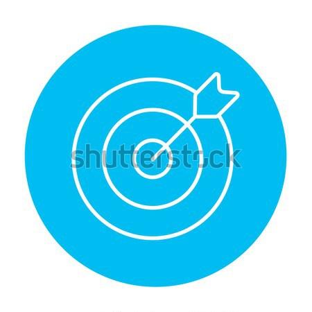 Target board and arrow line icon. Stock photo © RAStudio