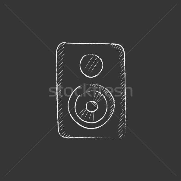MP3 player. Drawn in chalk icon. Stock photo © RAStudio